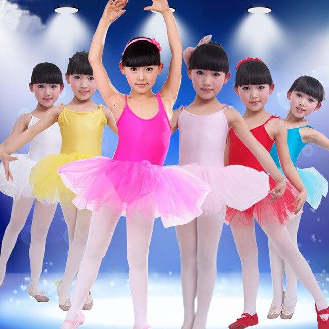 5159ad77c Nuevas chicas vestido de Ballet para niños niña danza ropa de niños trajes  de Ballet para niñas baile leotardo chica ropa 6 Color