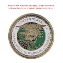 Памятная монета США темно-синие печати американская армейская коллекция художественные подарки сувенир новое качество