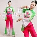 Venta caliente Nueva Antigua, Más Tamaño Vestido Tradicional Chino Danza Yangko Trajes Trajes De Danza Oriental