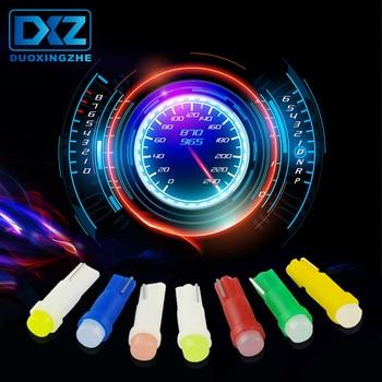 DXZ 10 pc T5 led voiture tableau de bord instrument de lumière automobile porte Wedge jauge lampe de lecture ampoule 12 V cob smd voiture style blanc rouge