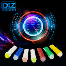DXZ 10pc T5 led car dashboard light instrument automobile door Wedge Gauge reading lamp bulb 12V cob smd Car Styling white red 10pc tags door