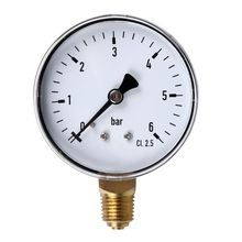 0-6 Bar Pressure Gauge Water Gas Air Pressure Compressor 1/4'' NPT Side Mount