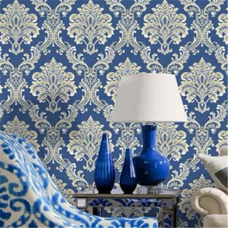 Beibehang Modern European Style Damascus Flower Wallpapers Living Room TV Background Wallpaper Home Decorative  3D Wall paper philips hr 3745 00 viva collection