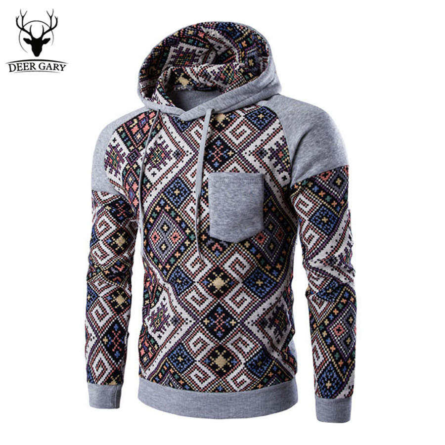 Chinese Style 2017 New Autumn Hoodies Mens Fashion Male Hooded Hoodie Casual Patchwork Sweatshirt Men Slim