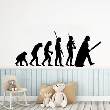 Creative evolution Self Adhesive Vinyl Waterproof Wall Art Decal Removable Wall Sticker Home Decoration Accessories creative home decoration girl s eyes design removable wall art sticker