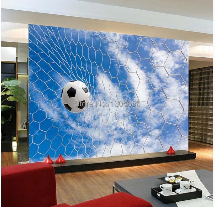 Free shipping custom modern 3D large mural sports football TV Bedroom Sofa children room background wall wallpaper