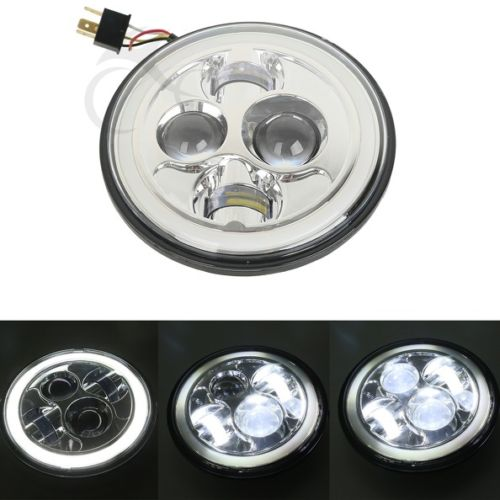 Chrome 7 LED Projector Daymaker Halo Headlight For Jeep Wrangler JK LJ TJ 97-14 idlamp торшер idlamp milada 401 5p ledchrome
