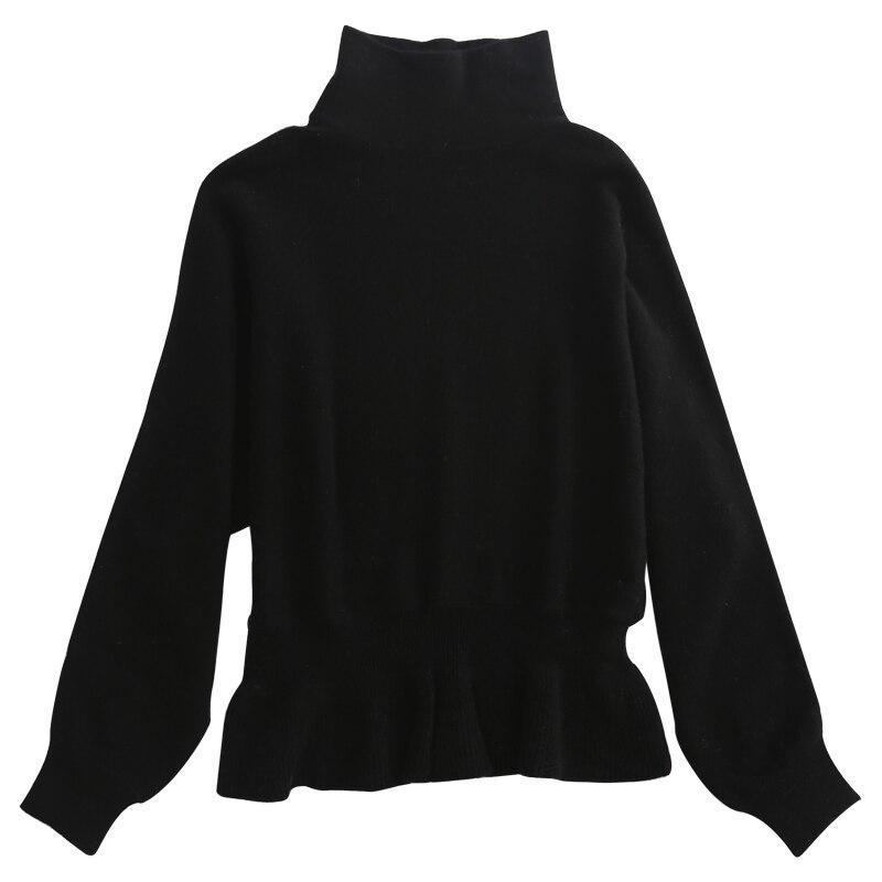 Qualité Vêtements Cachemire Black Col Femmes Tuniques Roulé Haute Avec Femelle Ms1868 Red Chandail wine Ms1868 Chaud Ms1868 Pourpre Pour purple Raccourci Pull Tricoté Mince dqw7f0