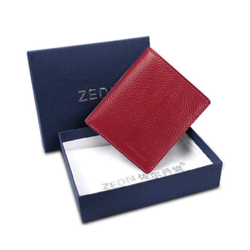 Купить с кэшбэком Ultra-thin Purse Women Genuine Leather Wallets Mini Short Wallet Female Fashion Lady's Purses Card Bags High quality New
