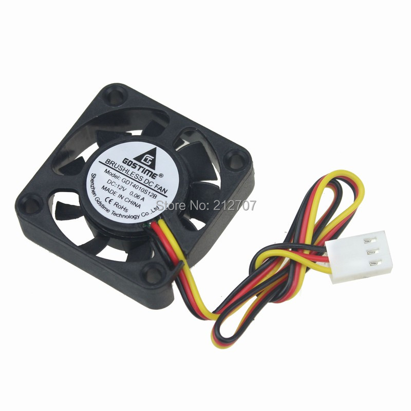 Factory Pice 500PCS GDT DC 12V 3P 4010 40mm 4cm 40 x 10mm 9 Blades Small Exhaust Fan