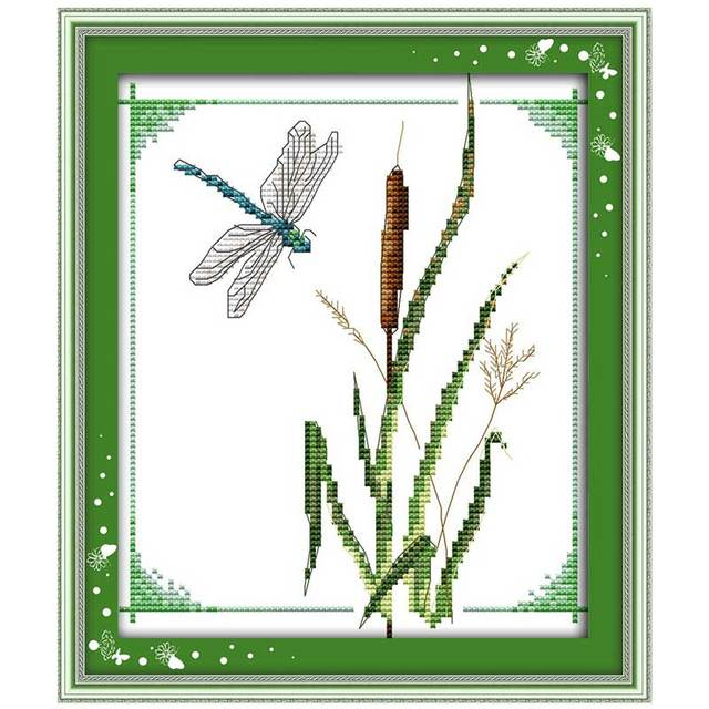 Dragonfly Patterns Counted Cross Stitch 11ct 14ct Cross