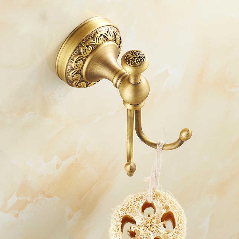 Antique szczotkowane miedzi rzeźbione baza sprzętu łazienka półka na ręczniki wieszak na ręczniki uchwyt na papier tkaniny hak łazienka akcesoria BS02