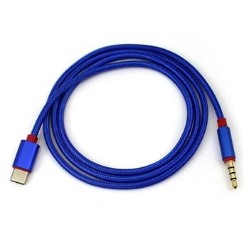 цена на Type C Audio Cable USB Male to 3.5mm Jack Male Car AUX Audio Adapter Cable Google Pixel/XL Leeco Le Max 2/Pro 3 a laptop