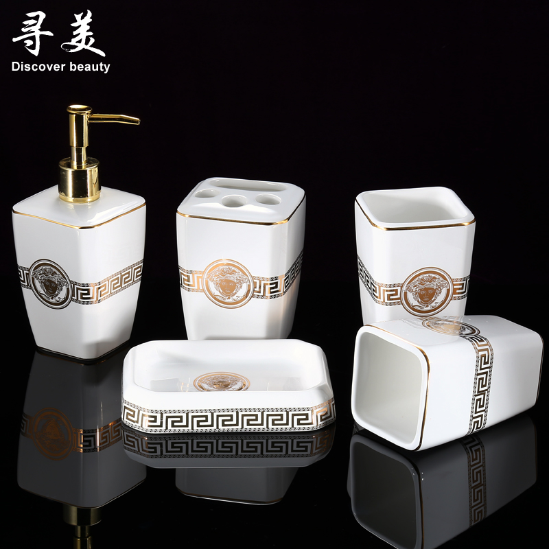 Top 30 White Ceramic Bathroom Accessories Set 25 Best Scintillating Gold  And Contemporary The 100 Black Image Collections