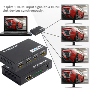 Image 4 - AIXXCO HDCP 4k HDMI Splitter Full HD 1080p Video HDMI Switch Switcher 1X2 1X4 Split 1 in 2 Out Amplifier Display For HDTV DVD