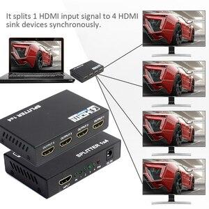 Image 4 - AIXXCO HDCP 4k مقسم الوصلات البينية متعددة الوسائط وعالية الوضوح (HDMI) كامل HD 1080p فيديو HDMI التبديل الجلاد 1X2 1X4 سبليت 1 في 2 خارج مكبر للصوت عرض ل HDTV DVD