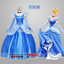 На заказ Принцесса Золушка платье костюм для взрослых женщин фантазия Хэллоуин Рождество Косплей Костюм