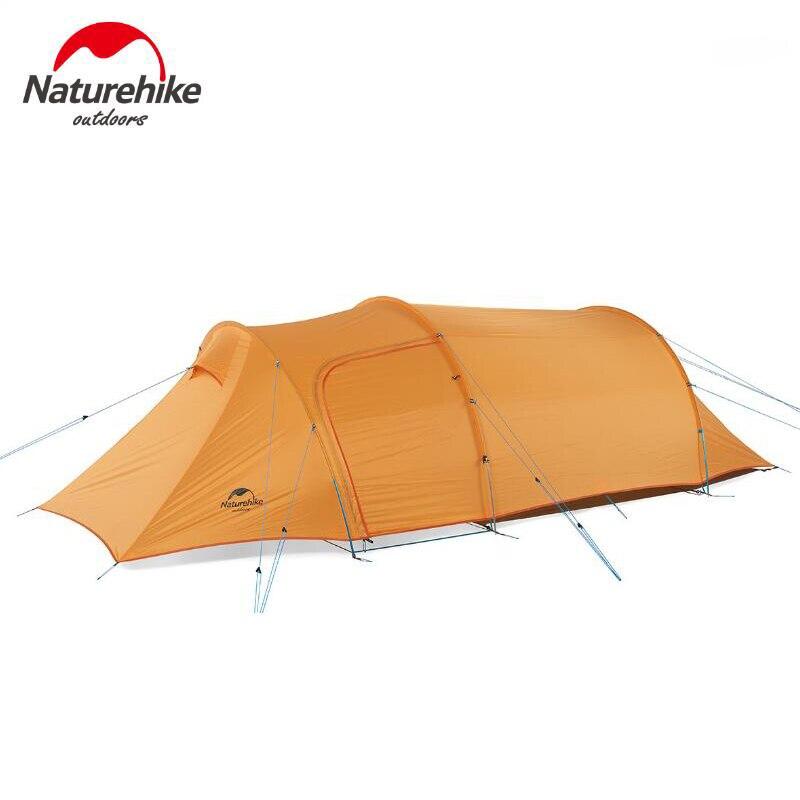 Naturehike Camping En Plein Air 3 Personne Tentes Étanche Double-couche Tentes Touristiques 4 Saison Randonnée Grande tente de Camping familiale