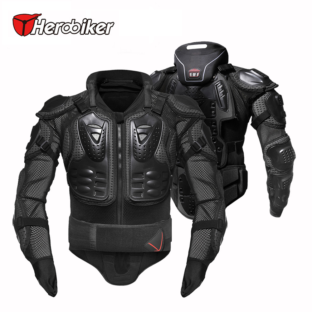 HEROBIKER Back Support Armor Removable Neck Protection Guards Riding Motorcycle Protective Gear Full Body Armor Protectors herobiker back support armor removable