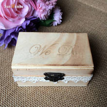 1pcs We Do Rustic Wooden Ring Box Wedding Decoration Vintage Mariage Decor Wood Rings Boxes Party Decorations