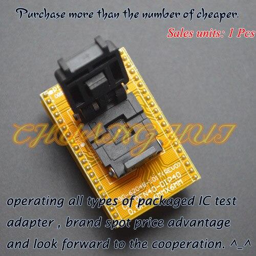 IC TEST Clam-Shell Socket QFN40 Adapter WSON40 DFN40 MLF40 QFN40-DIP40 Programming Adapter Size=6x6mm Pitch=0.5mm