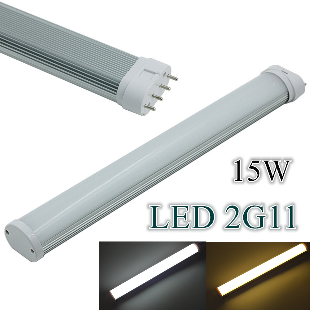 (4pcs/Lot) 2G11 15W LED Tube 4Pin Linestra Lamp LED Light 85-265V 2G11 Led Integrated Tube Lamp Replace Halogen led tube 4pin linestra 2g11 dimmable lamp pll lamp pl bar 9w 12w 16w 22w 110v 220v 225mm 320mm 415mm 540mm replace halogen