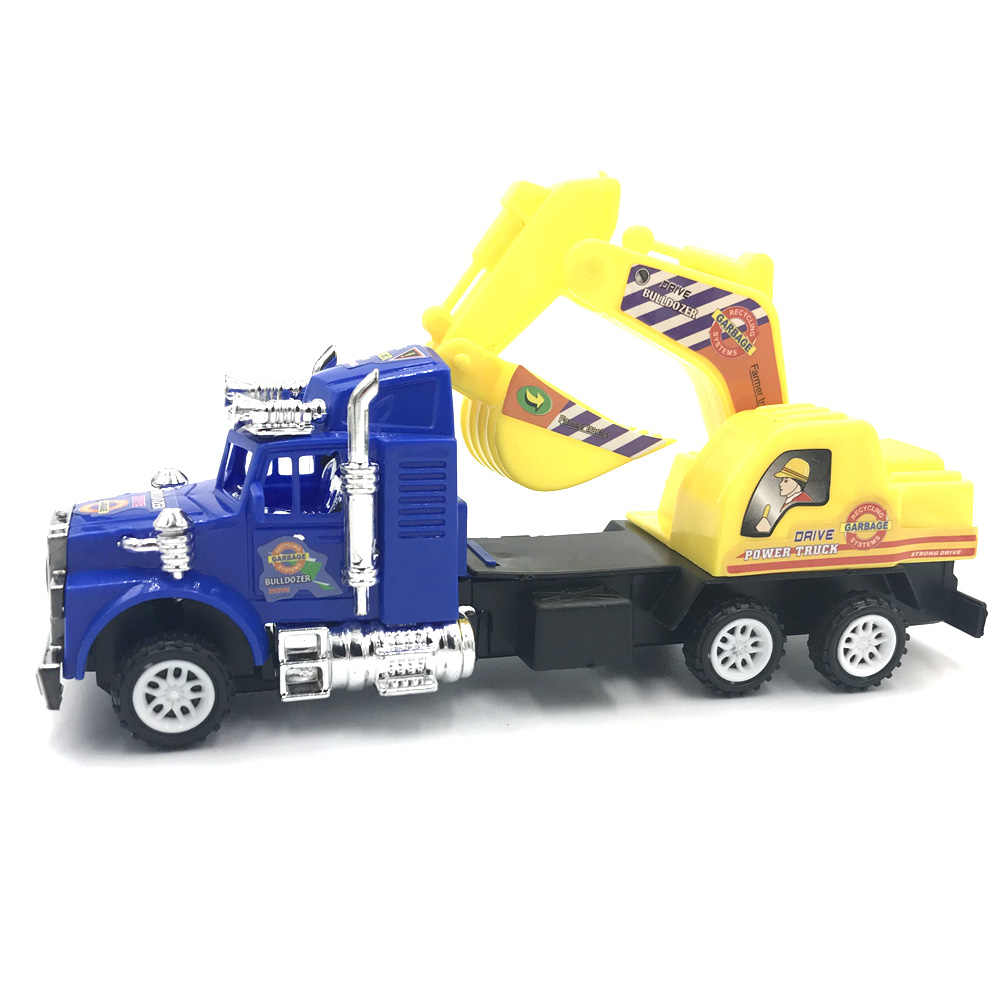 Mini Plastic Inertia Engineering Car Toy Vehicle Set Dump Truck Forklift Excavator Mixer Tractor Toys Children Gift