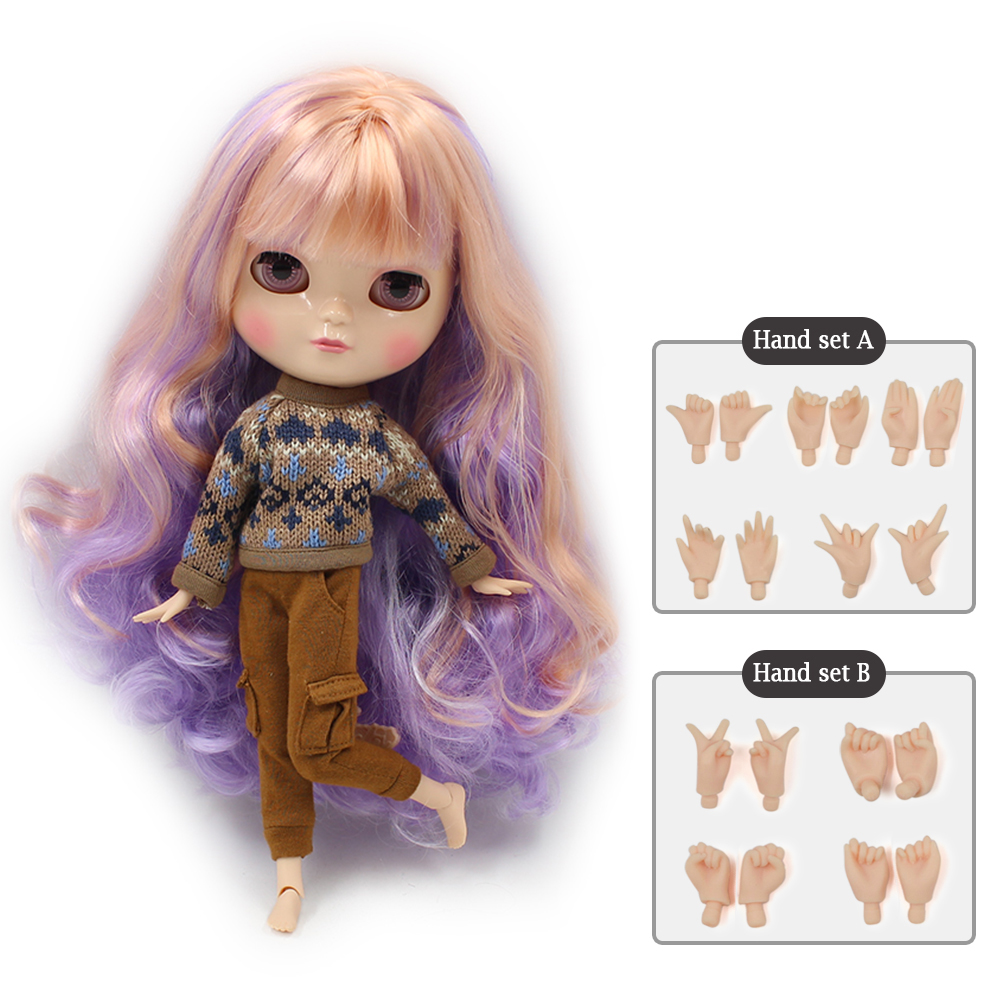 NO.7216/2023/136/3139 Cute ICY joint doll articulation body including hand set AB Gift for girls like the Neo blyth doll 30cm