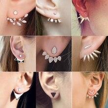Luxury Stud Earring Pearl Heart Crystal Flower Angel Wings Geometric Earrings Ladies Statement Ear Jewelry Wholesale pendientes