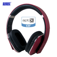 August EP650 Bluetooth Headphones with 3.5mm Audio In Wired or Wireless Stereo Bluetooth Headset with Microphone / NFC / APT-X