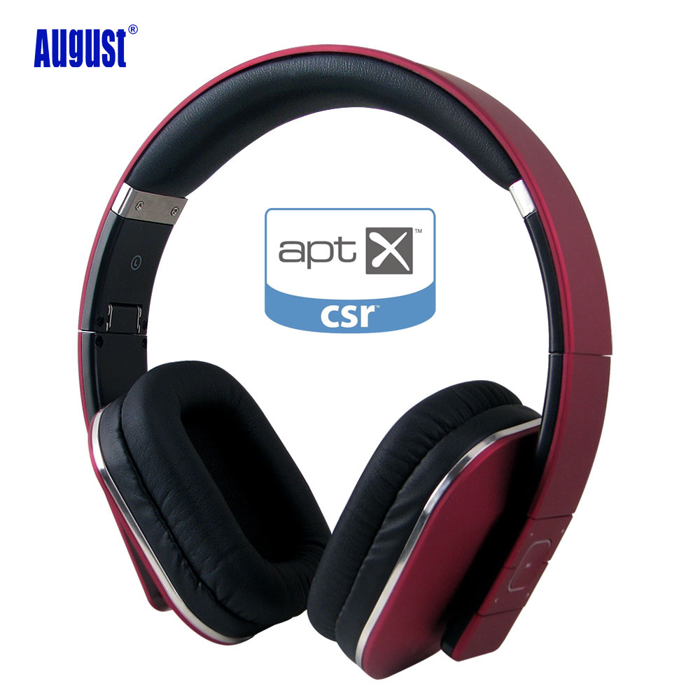 August EP650 Wireless Bluetooth 4.1 Headphones with aptX / Microphone/ NFC HiFi Bass Bluetooth Headset for Mobile Phone,PC,TV 2016 stereo bluetooth wireless headset gamer pc bass headphones with microphone hands free for mobile phone black