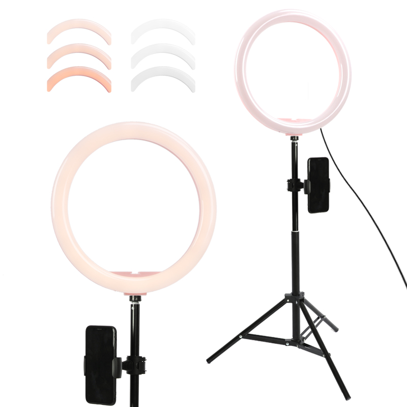 12 8 Photo Studio LED Camera Ring Light Dimmable Phone Video Light Lamp With 1 6M