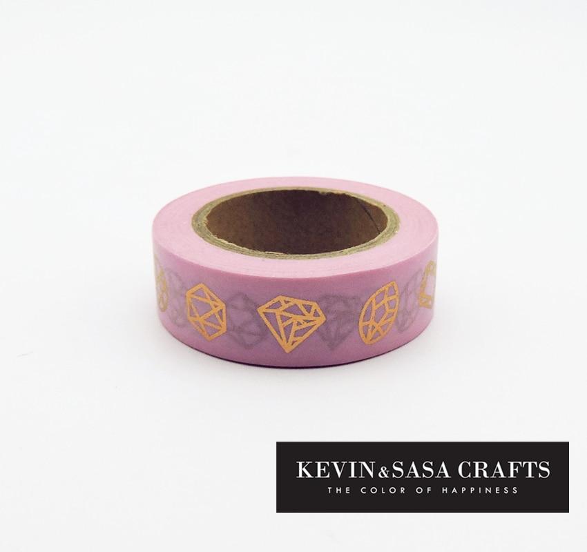 Foil Washi Tape Pink Heart Japanese 10meter Kawaii Scrapbooking Tools Masking Tape Christmas Photo Album Diy Decorative Tapes