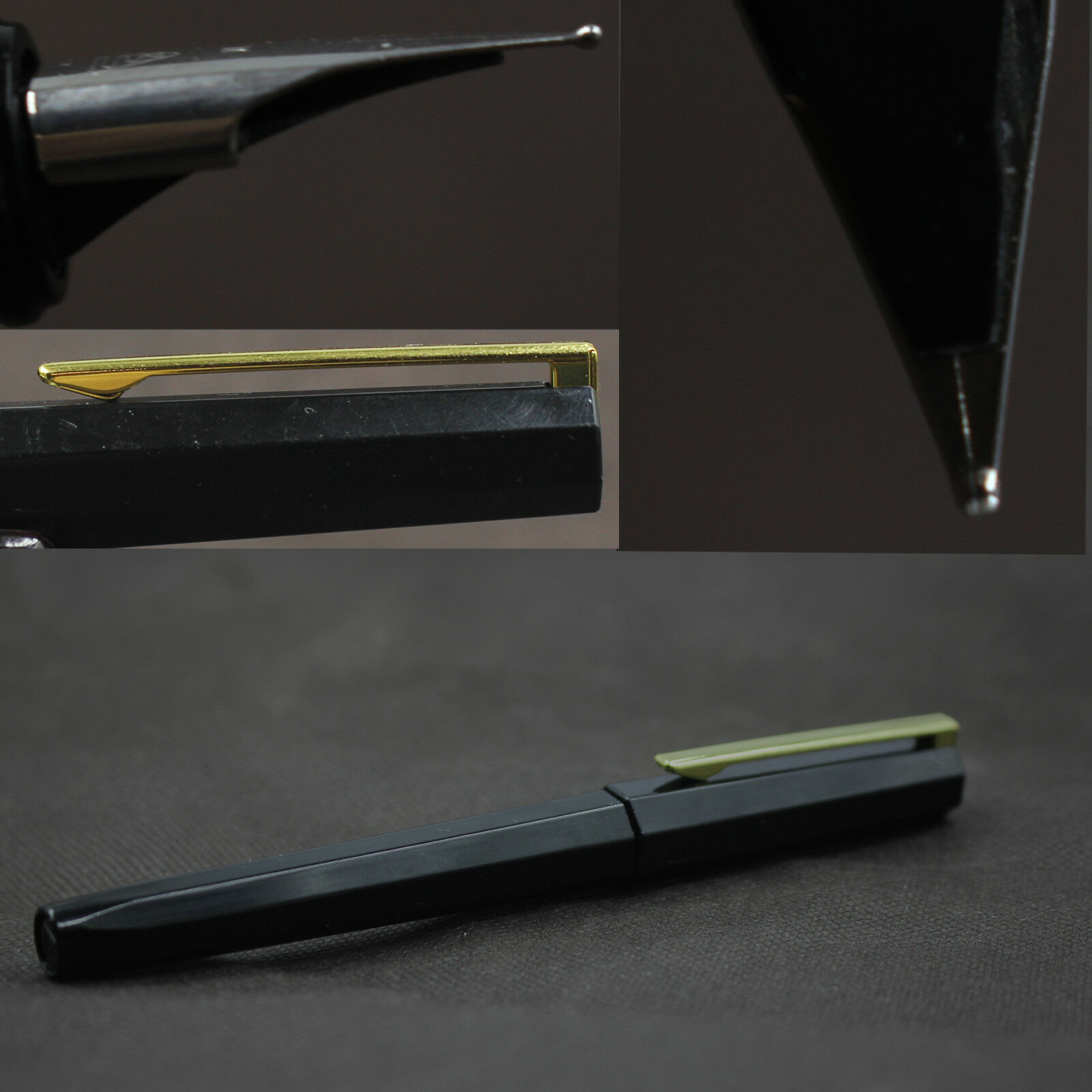 Old Stock Octagon Black Ink Window Fountain Pen Plastic Ink Pen M Wet Nib Stationery Office School Supplies Writing Gift