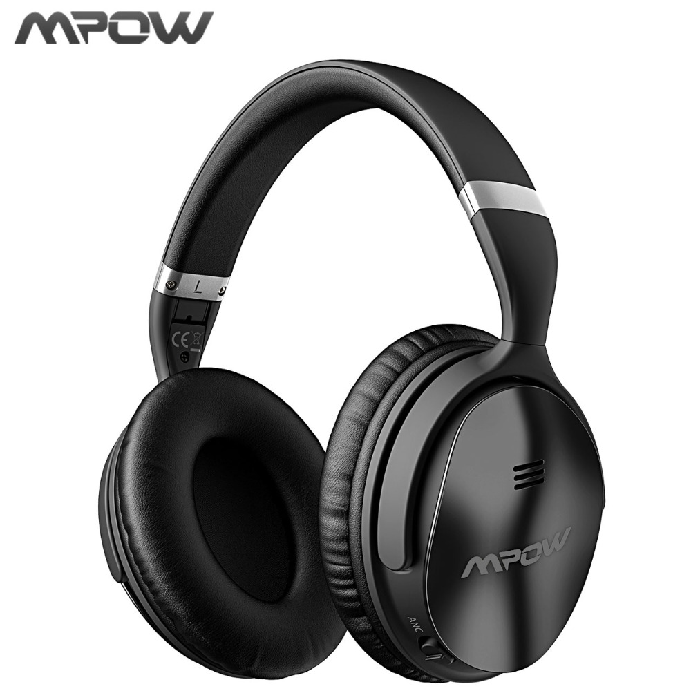 Mpow New Wireless Bluetooth Headphones With Mic Active Noise Cancelling Headphone With EVA Bag For PC TV Smart Mobile Phones earfun brand big headphones with mic
