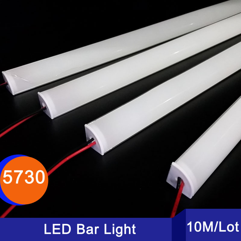 10/30/50/100M 5730 LED aluminium profile 72 LED DC12V Drawer Cabinet Wardrobe Tube for kitchen / bedroom led kitchen bar light 5 30 pcs lot 1m aluminum profile for led strip milky transparent cover for 12mm pcb with fittings embedded led bar light
