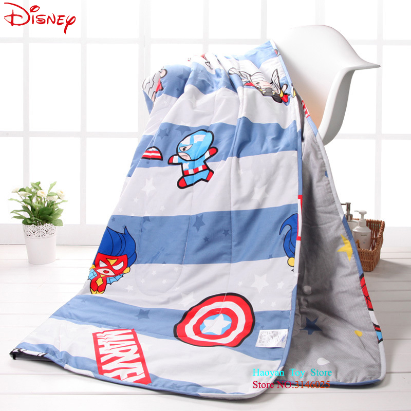 все цены на Disney 110*150CM Cartoon Cotton Soft Blanket Throw for Girls Children On Bed Sofa Couch Kids Baby Summer Quilt Air Conditioner