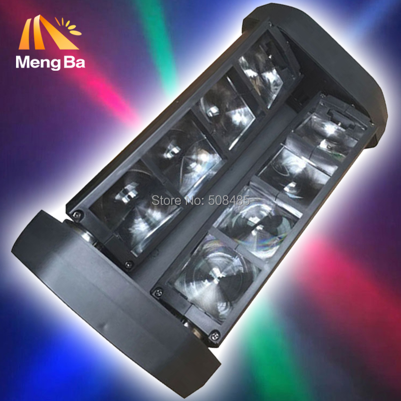 цены 10pcs/lot Free Shipping HOT Sale NEW Moving Head Light Mini LED Spider 8x6W RGBW Beam Light Good Quality Fast Shipping