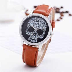 Горячая Распродажа товары Luxury Fashion кожаный ремешок аналоговые кварцевые наручные часы круглые простые повседневная женская обувь часы