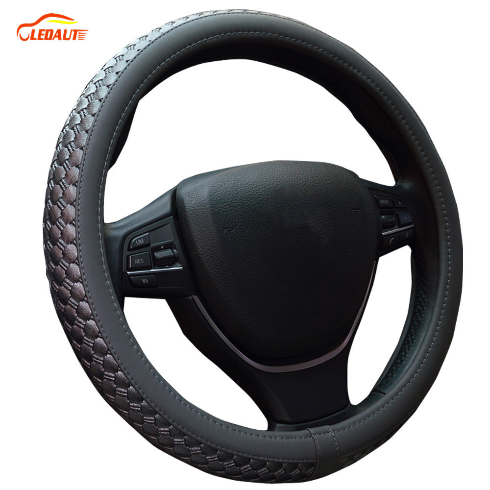 Ledaut Pu Leather Cover Steering Wheel For Toyota 4runner