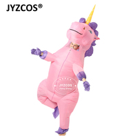 JYZCOS New Unisex Adults Kids Inflatable Unicorn Costume Carnival Halloween Costumes Animal Cosplay Clothing Fancy Dress Suits 1