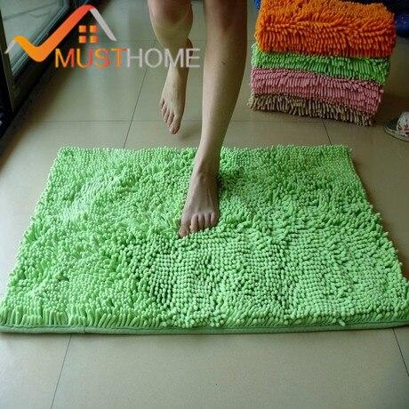 5080 Cm Vloer Badmat Antislip Set Microfiber Chenille Badmat Gratis