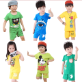 2017 Summer New Boys sets Unisex Children's Sets Sports Clothes Suit T-shirts + Shorts 2pcs set Kids Clothing sets CC0016