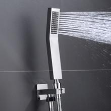 цена High Quality Brass Hand Shower Set Wall Mounted Hand Held Brass Shower Head Brass Holder & Hose Water Saving Shower Sprayer онлайн в 2017 году