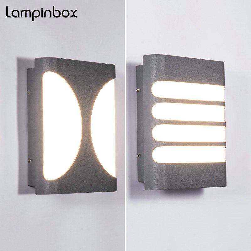 The New Outdoor Waterproof Wall Lamp 12W LED indoor Lighting Modern simple outdoor aisle corridor wall lamp Porch Lights LP-030 6w 12w 18w led wall lamp outdoor waterproof modern corridor wall lamp outdoor garden lights balcony doorway aisle lights lp 010