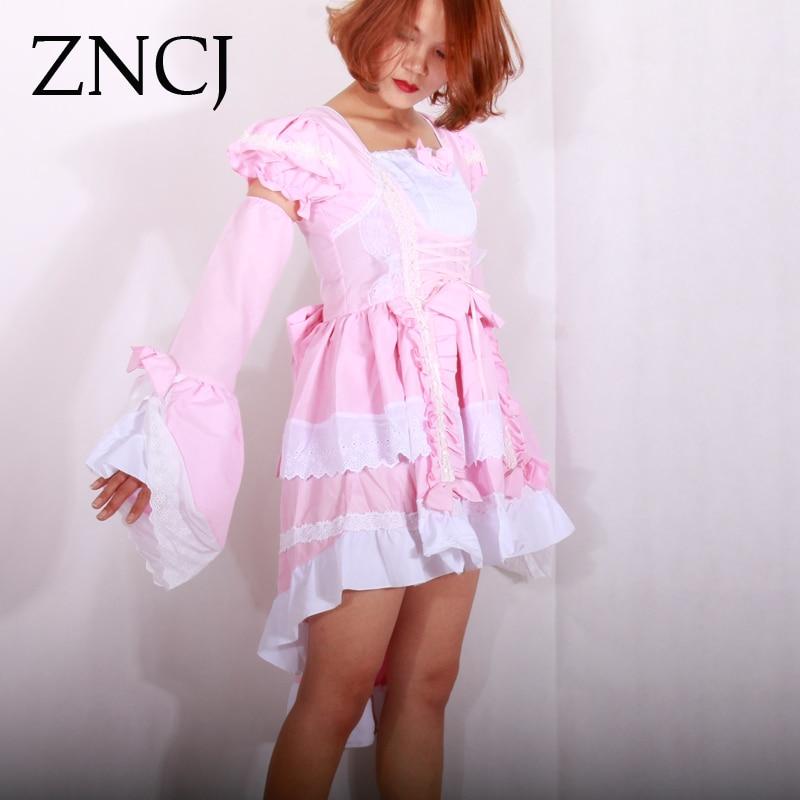 ZNCJ Harajuku Lolita Black Pink Female Halloween Victorian Gothic Dress  Girl Cosplay Princess Lolita Costume Layered Women-in Lolita Dresses from  Novelty ... 624874557440