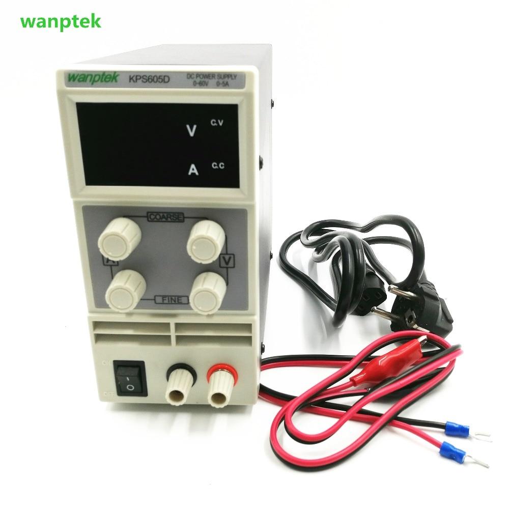 KPS605DF 0-60V/0-5A 110V-230V 0.1V/0.001A EU LED Digital Adjustable Switch DC Power Supply mA displayKPS605DF 0-60V/0-5A 110V-230V 0.1V/0.001A EU LED Digital Adjustable Switch DC Power Supply mA display
