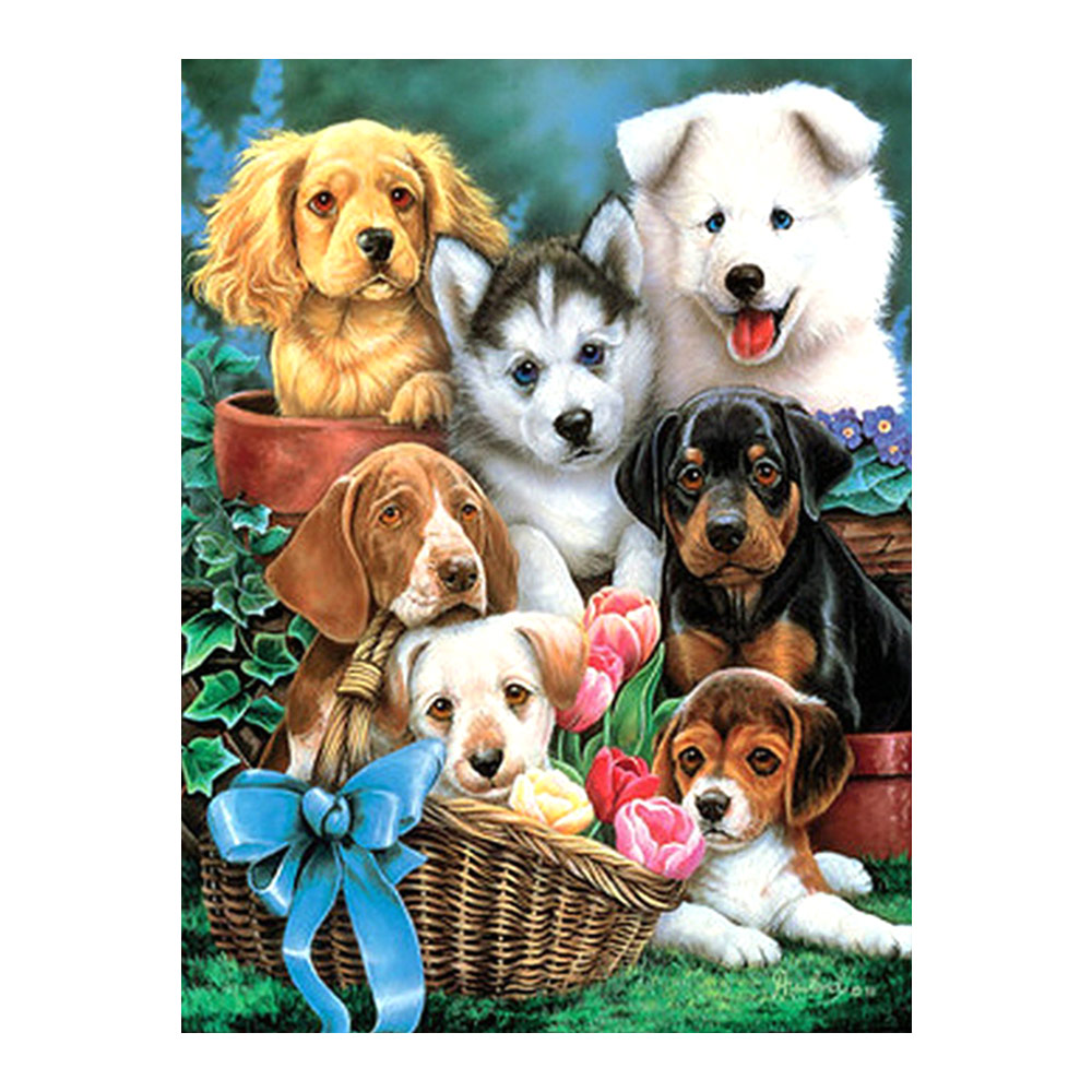 animal Dog Lovely  Diamond Painting Full Round New DIY Sticking Drill Cross Embroidery 5D simple Home Decoratioanimal Dog Lovely  Diamond Painting Full Round New DIY Sticking Drill Cross Embroidery 5D simple Home Decoratio