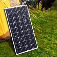 Tüketici Elektroniği'ten Güneş Pilleri'de 2 adet 100 W 12 Volt GÜNEŞ PANELI şarj çin güneş monokristal panel pil/modülü/sistem/ev/tekne silikon güneş 100 Watt