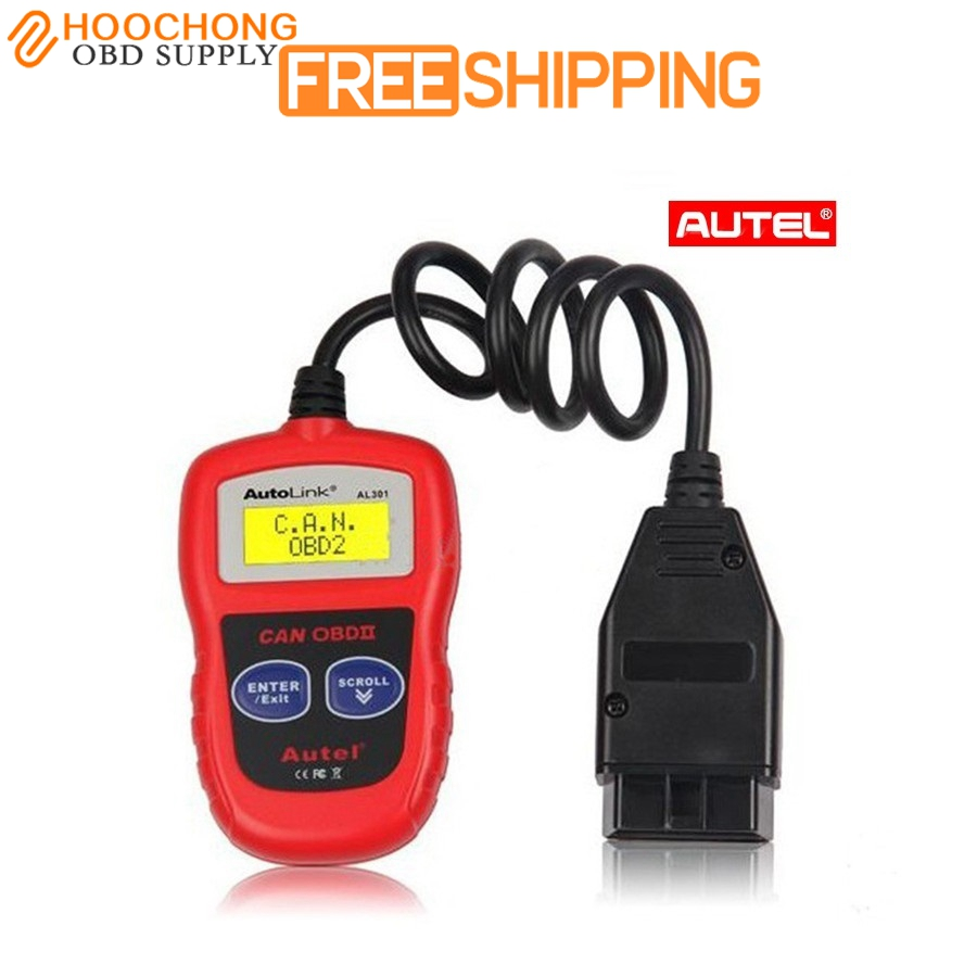 Autel AutoLink AL301 OBDII OBD2 CAN Code Reader Scanner Auto Fault  Diagnostic Scan tools Car accessories Shipped From USA 887162808e10